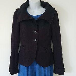 Free people black jacket sz 4 S cotton lined